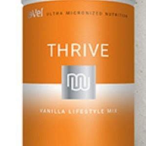 Canister of thrive vanilla drink mix